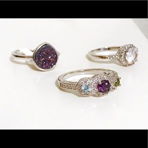 Silver & Purple ring trio - Fragrant Jewels ✨